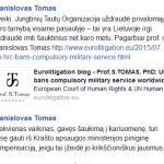 Tris kartus profesorius iki gyvos galvos Stanislovas Tomas, uždraudęs karinę tarnybą pasaulyje: o iš tiesų - dundukas