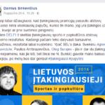 Pretendentams į Mokslo Tarybos stipendiją: elito atstovo D.Sinkevičiaus case study